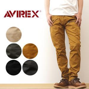 AVIREX アヴィレックス ストレッチ ドビー 8ポケット パンツ ミリタリー カーゴ ファティーグ スリム アビレックス アメカジ チノパン 軍パン 6156101|robinjeansbug