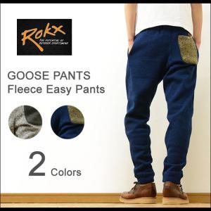 ROKX ロックス GOOSE PANTS ニット フリース イージー パンツ メンズ レディース スウェット スエット グースパンツ クライミング ジョガー ナロー RXMF6301|robinjeansbug