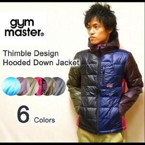 gym master(ジムマスター) 指ぬきデザイン ライトウエイト フード付きダウンジャケット 指貫 【G321520】|robinjeansbug