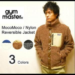 gym master(ジムマスター) もこもこボア素材-ナイロンマウンテンパーカー フード付き リバーシブルマウンテンパーカー ボアジャケット 【G321508】|robinjeansbug