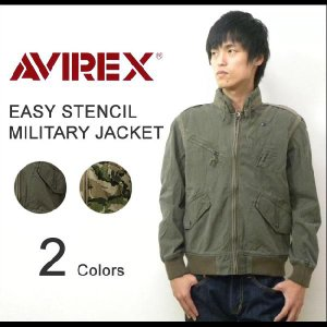 AVIREX(アヴィレックス) EASY STENCIL JACKET イージーステンシルジャケット ミリタリーブルゾン エアフォースプロジェクターライト付属 【6122035】|robinjeansbug