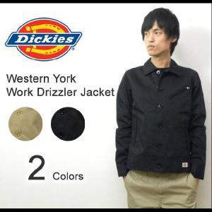 Dickies(ディッキーズ) ウエスタンヨーク TC ワークドリズラー TCツイル長袖ワークディテールブルゾン ジャケット 【123M11WD01】|robinjeansbug