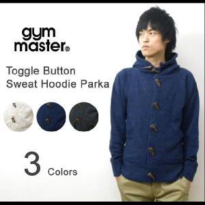 gym master(ジムマスター) トグルボタン スウェット地 フードパーカー ウールブレンド壺車スウェットジャケット パーカ【G733572】|robinjeansbug