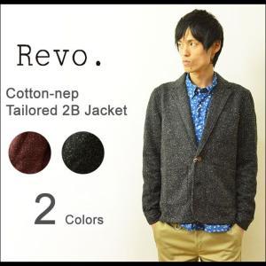 Revo.(レヴォ) コットンネップ テーラードジャケット メンズ 圧縮ニット 2つボタン レボ TH-1866|robinjeansbug