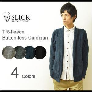 Slick(スリック) TR 裏毛 ボタンレス カーディガン メンズ ショールカラー ニット セーター ボタンなし カジュアル エレガント シンプル 日本製 5168707|robinjeansbug