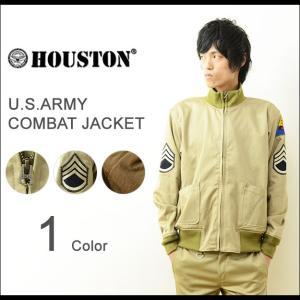 HOUSTON(ヒューストン) コンバットジャケット メンズ タンカース ミリタリー フライト 日本製 U.S.ARMY 映画 フューリー ブラピ ブラッドピット 5B-FR|robinjeansbug