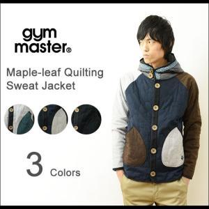 gym master(ジムマスター) メイプルリーフ キルティング スウェットジャケット メンズ フードパーカー スエット ブルゾン ジャンパー 中綿 レディース G402304|robinjeansbug