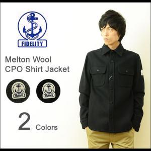 FIDELITY(フィデリティ) メルトン ウール CPO シャツジャケット メンズ アウター ワーク 海軍 フィデリティー アンカー ワッペン 日本製 ミリタリー GS15FO-06 robinjeansbug