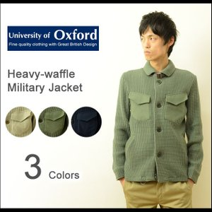 University of Oxford(オックスフォード) へヴィーワッフル ミリタリージャケット メンズ M-65 ブルゾン カット サーマル アウター 0704-61422|robinjeansbug