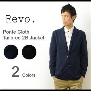 Revo. レヴォ ポンチ 素材 2B テーラード ジャケット メンズ 2つ ボタン スリム タイト 細身 カジュアル スーツ 背広 アメカジ モード シンプル レボ TH-2188 robinjeansbug