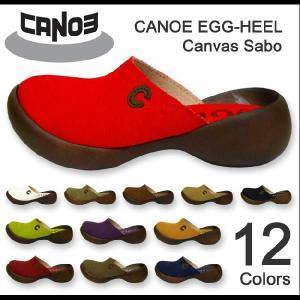 CANOE egg heel(カヌーエッグヒール) Canvas Sabo キャンバスサボ レディースシューズ サンダル【C-584】【C584】|robinjeansbug