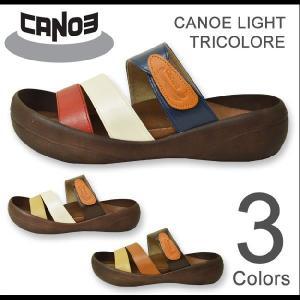 CANOE Light(カヌーライト) TRICOLORE トリコロールサンダル 3本ベルト PU 合成皮革 コンフォートシューズ メンズ 日本製 国産 CL500TR CL-500TR|robinjeansbug