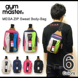 gym master(ジムマスター) メガジップ スウェット地 ボディバッグ 斜め掛けバッグ ショルダーバッグ アウトドア デカジップ 【G239572】|robinjeansbug