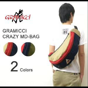 GRAMICCI(グラミチ) CRAZY MEDIUM BAG クレイジーミディアムバッグ コットン素材 アウトドア ボディバッグ 斜め掛けバッグ ショルダーバッグ 【GAC-12S008】|robinjeansbug