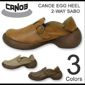 CANOE egg heel(カヌーエッグヒール) 2-Way Sabo 2ウェイ シューズ&サボサンダル フェイクレザー 合成皮革 コンフォートシューズ パンプス【C-903】【C903】|robinjeansbug