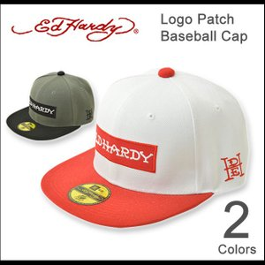 Ed Hardy(エドハーディー) ロゴ ベースボールキャップ メンズ レディース キャップ BBキャップ 帽子 ブランドロゴ ワッペン ボックスロゴ 正規品 EDCP004|robinjeansbug
