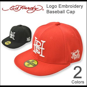 Ed Hardy(エドハーディー) ロゴ ベースボールキャップ メンズ レディース キャップ BBキャップ 帽子 ブランドロゴ 刺繍 スクエアロゴ 正規品 EDCP003|robinjeansbug