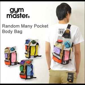 gym master(ジムマスター) ランダム メ二ー ポケット ボディバッグ メンズ レディース ショルダー メッセンジャー ユニセックス G149322|robinjeansbug