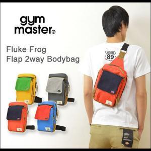 gym master(ジムマスター) フラップ 2way ボディバッグ メンズ レディース ショルダー メッセンジャー カエル刺繍 Fluke Frog ユニセックス G149319|robinjeansbug