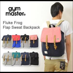 gym master(ジムマスター) フラップ リュック バックパック メンズ レディース バッグ カエル刺繍 Fluke Frog スウェット ユニセックス G639529|robinjeansbug