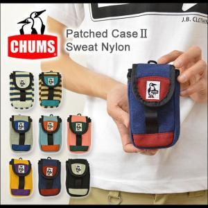 CHUMS(チャムス) パッチドケース2 スマホ ケース デジカメ 小物入れ スマートフォン iphone5 5s アイフォン スウェット ナイロン CH60-0690|robinjeansbug