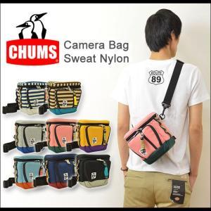 CHUMS(チャムス) カメラバッグ ショルダー 一眼レフ 収納 デジカメ レンズ ハンディカム スウェット ナイロン 写真 CH60-0698|robinjeansbug