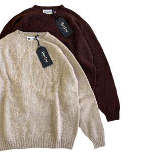 Harley of Scotland Oversize 2 Ply Rennie Supersoft Crew Neck Sweater  ハーレーオブスコットランド メンズ ニット セーター robles-store