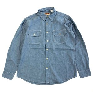 CAMCO(カムコ) CHAMBRAY WORK L/S Shirts BLUE シャンブレーシャツ ブルー|robles-store
