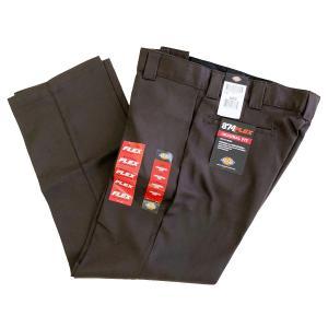 DICKIES 874 FLEX WORK PANTS DARK BROWN  ディッキーズ ワークパンツ|robles-store