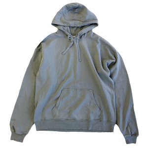 COMFORT WASH BY HANES / Ringspun Cotton Garment-Dyed Pullover hood sweatshirt CONCRETE ヘインズ パーカー|robles-store
