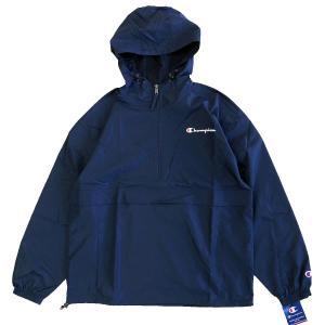 Champion  Packable Jacket  NAVY チャンピオン ジャケット パッカブル アノラック プルオーバー|robles-store