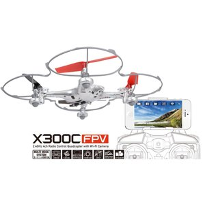[GM302] Wi-Fiカメラ搭載ドローンX300C FPV(シルバー) robotena