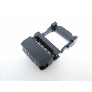 10Pフラットケーブルコネクタメス(FC-10P 2.54mm)1個|robotena
