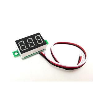 小型デジタル電圧計(DC0-30V, 赤LED)の商品画像
