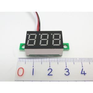 小型デジタル電圧計(DC0-30V, 赤LED)の詳細画像1