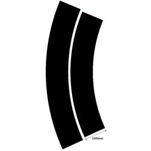 カーブ半径600mm(R600)黒色カッティングシート robotena