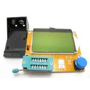 LCR-T4 抵抗・コンデンサー・ダイオード・トランジスタ・ESRテスター(9V 128×64LCD)|robotena