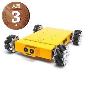 4WD100mmメカナムホイールロボット (10011) [台車ロボット・研究開発]