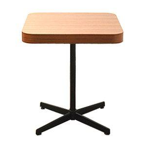 DICO ディーコ カフェテーブル エックスレッグ ミッドセンチュリー チーク 北欧モダン 小さめダイニングテーブル カフェ 商業家具|rocca-clann