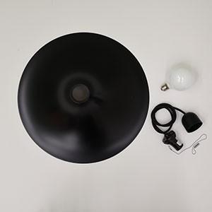 送料無料 Rona ロナ Mサイズ ブラック ペンダントライト 北欧 ミッドセンチュリー シンプル LED対応 黒 レトロ ラッパ型 ペンダントランプ インテリア rocca-clann 08