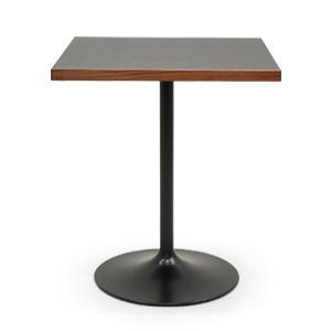 カフェ テーブル 黒メラミン天板|rocca-clann