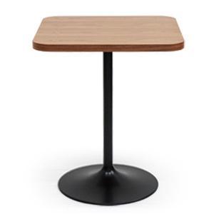 カフェ テーブル R 天然木突き板天板 ウォールナット 家具|rocca-clann