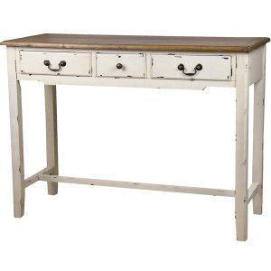 コンソールテーブル フレンチカントリー シンプル 店舗什器 シャビー ロハス アンティーク デスク 化粧台 机 作業台|rocca-clann