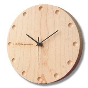 送料無料 Hacoa ハコア  壁掛け時計 ラウンド メープル 木製 ウォールクロック|rocca-clann
