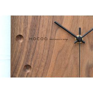 送料無料 Hacoa ハコア 壁掛け時計 スクエア ウォールナット 掛時計 ウォールクロック お洒落 ナチュラル ギフト プレゼント 工芸品|rocca-clann|02