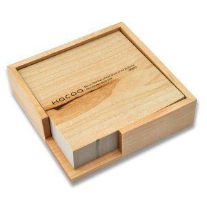 Hacoa  メモブロック&トレイ メープル 木目 シンプル|rocca-clann