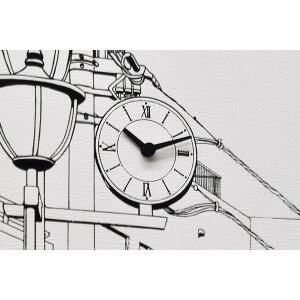 送料無料 キャンバスワークス Canvasworks 駅前の街並み 壁掛け時計 ウォールクロック 能登夫妻 アート プレゼント おもしろ雑貨 のとふさい rocca-clann 02