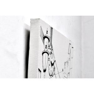 送料無料 キャンバスワークス Canvasworks 駅前の街並み 壁掛け時計 ウォールクロック 能登夫妻 アート プレゼント おもしろ雑貨 のとふさい rocca-clann 03