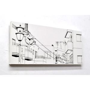 送料無料 キャンバスワークス Canvasworks 駅前の街並み 壁掛け時計 ウォールクロック 能登夫妻 アート プレゼント おもしろ雑貨 のとふさい rocca-clann 04