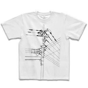 シキサイ Tシャツ 電信柱 Lサイズ|rocca-clann